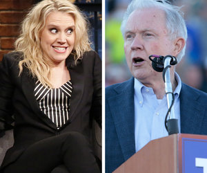 Kate McKinnon Entertains Seth Meyers With Jeff Sessions Impression