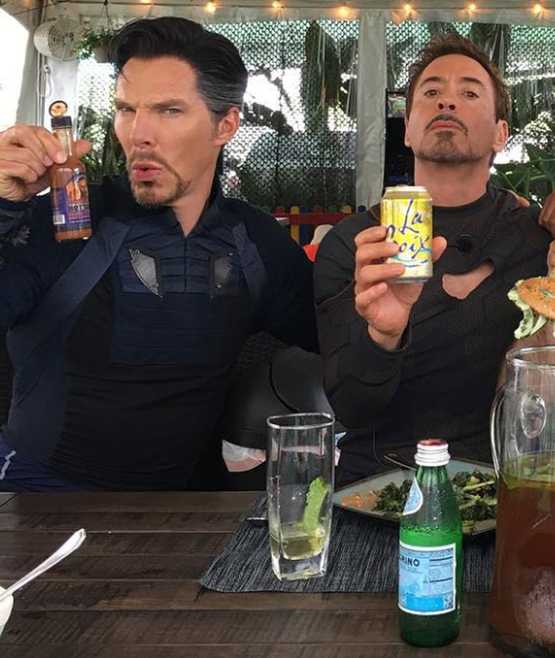 Cumberbatch, Downey Jr. Bond Over Facial Hair and La Croix on 'Infinity War' Set