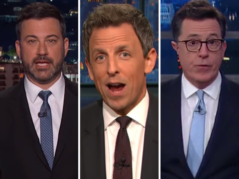 Late-Night Stars Blast Republicans for Secretive Health Care Plan