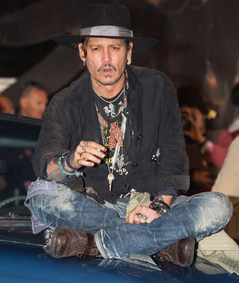 Johnny Depp is Spotted Out at Glastonbury