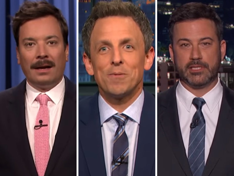 Jimmy Kimmel, Seth Meyers and Jimmy Fallon Pile On Trump's 'Poor Person' Remarks, 'Bad' Healthcare Bill (Video)