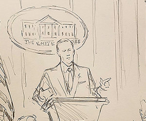 CNN Trolls White House by Sending Sketch Artist to Press Briefing