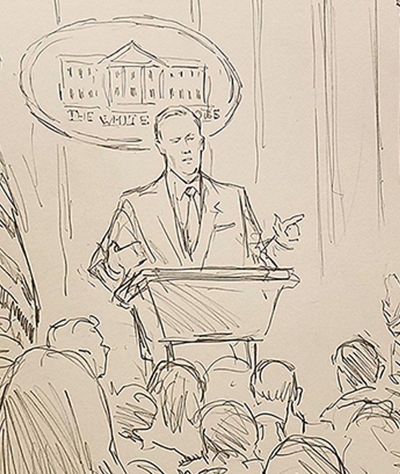 CNN Trolls White House by Sending Sketch Artist to Press Briefing