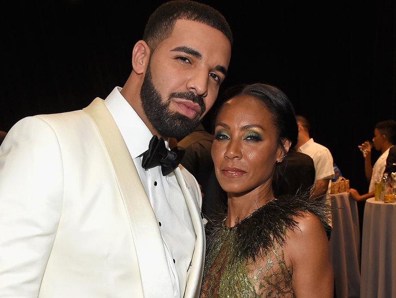 Drake and Jada Pinkett Smith Pose Backstage at NBA Awards