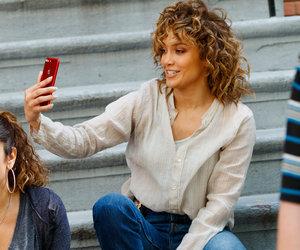 Jennifer Lopez Pauses for a Selfie On Set