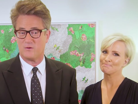 Joe Scarborough, Mika Brzezinksi Troll Trump's Tweets on 'Late Show'