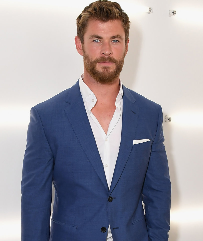 Chris Hemsworth Attends Men's Fashion Week in NYC