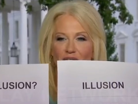 Kellyanne Conway's 'Hannity' Stunt Turns Into Twitter Meme Field Day