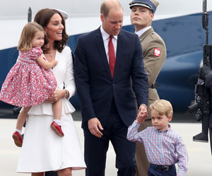 Prince William and Kate Touch Down in Poland With Kids in Tow