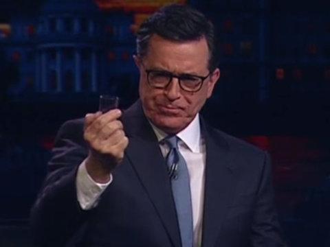 Colbert Rips Vodka Shots With Russian Late-Night Host