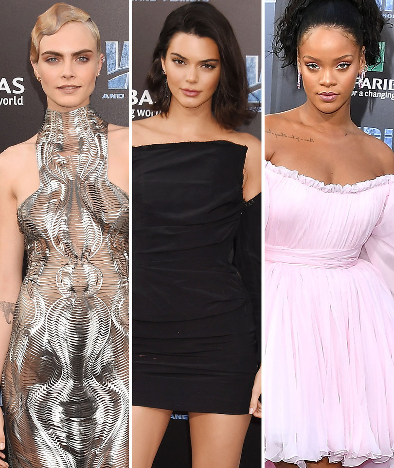Cara, Riri and Kendall Among Stars at 'Valerian' Premiere
