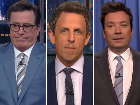 Colbert, Kimmel, Meyers and Fallon Dance on Trumpcare's Grave