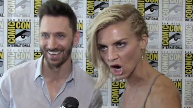 Derek Wilson & Eliza Coupe on Their Badass 'Future Man' Looks