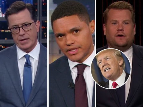 Late-Night Hosts Tear Into Trump's 'Horrific' Boy Scouts Speech