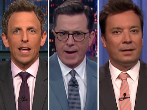 Late-Night Hosts Skewer Trump Over Trans Military Ban
