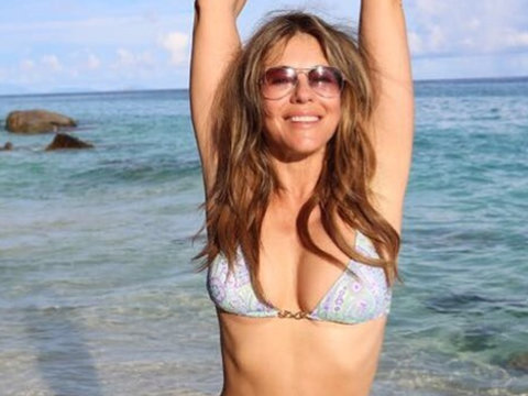 Elizabeth Hurley Rocked the Heck Out of Her Bikini at the Beach