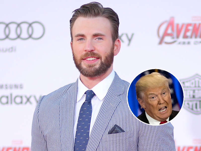 Here's Why Chris Evans Thinks President Trump Is a 'Reckless Moron'