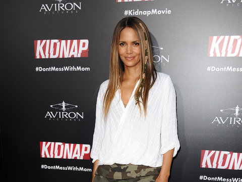 Halle Berry Debuts a New 'Do at 'Kidnap' Premiere