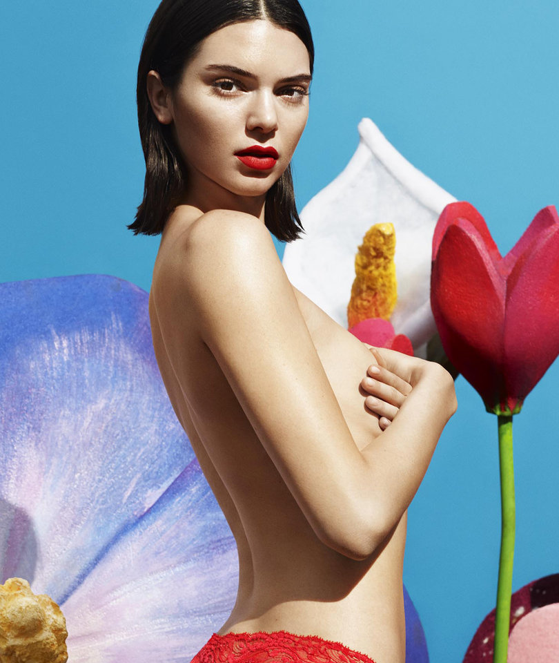Kendall Jenner Goes Topless for New La Perla Lingerie Campaign