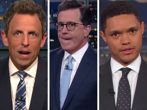 Late-Night Hosts Imagine Trump Trial in Wake of Mueller's Grand Jury