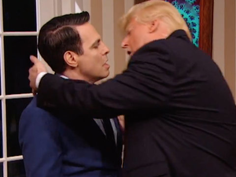 Cantone's Scaramucci Signs Off 'President Show' with Trump Makeout Session
