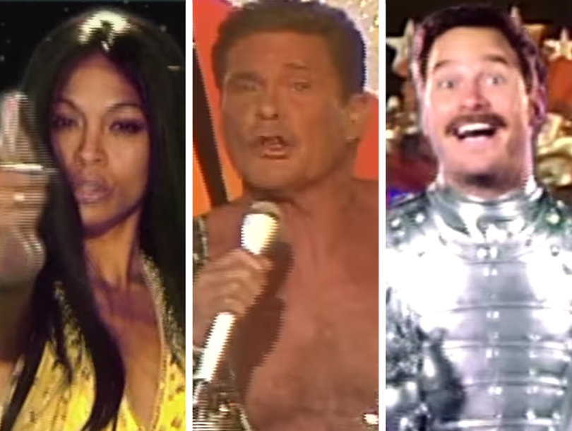 Pratt and Saldana Join The Hoff In Ridiculous 'Guardians Inferno' Music Video