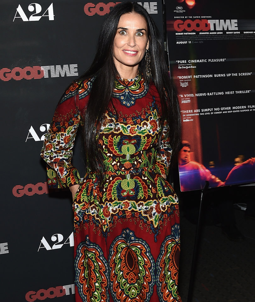 Demi Moore Has a 'Good Time' at Robert Pattinson's Movie Premiere