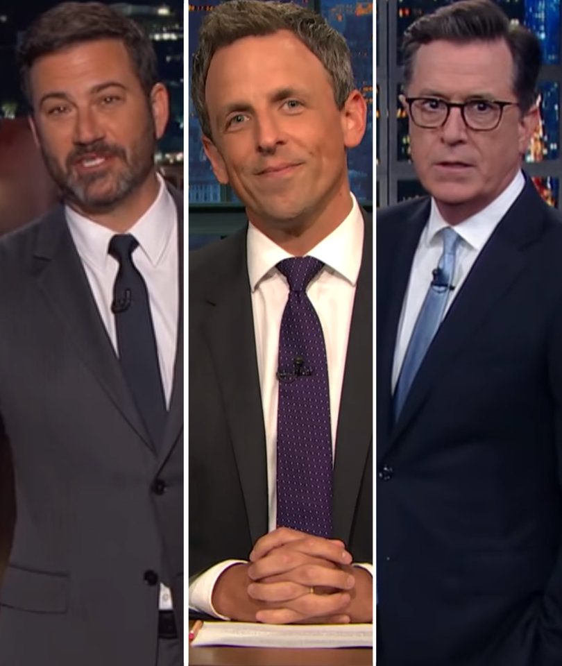 Late-Night Hosts Are Terrified of Trump's North Korea Threat