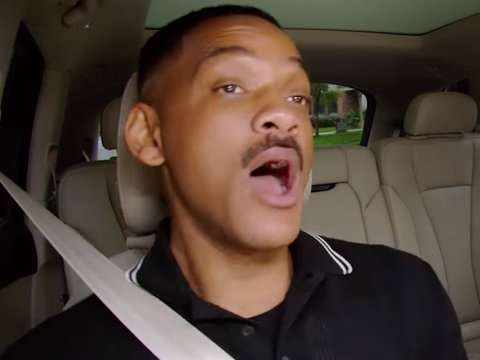 Will Smith and James Corden 'Get Jiggy With It' on 'Carpool Karaoke'