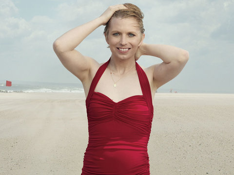 Chelsea Manning Makes Vogue Debut in Red Swimsuit