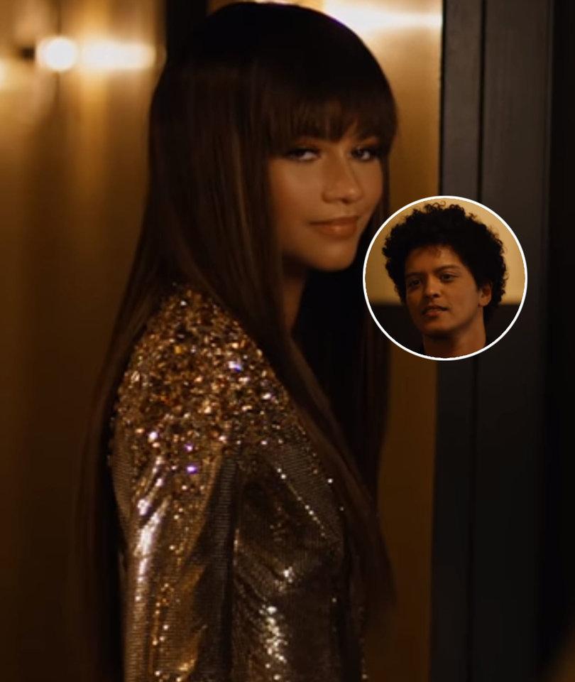 Zendaya Joins Bruno Mars in Shimmery 'Versace on the Floor' Music Video