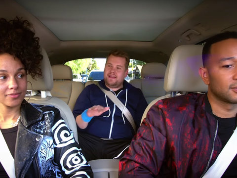 John Legend, Alicia Keys Sing About Erections And Deodorant In 'Carpool Karaoke' Clip