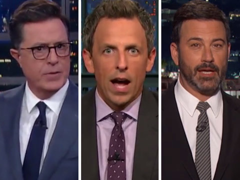 Late-Night Hosts Get Serious to Bash Trump's Response to Charlottesville