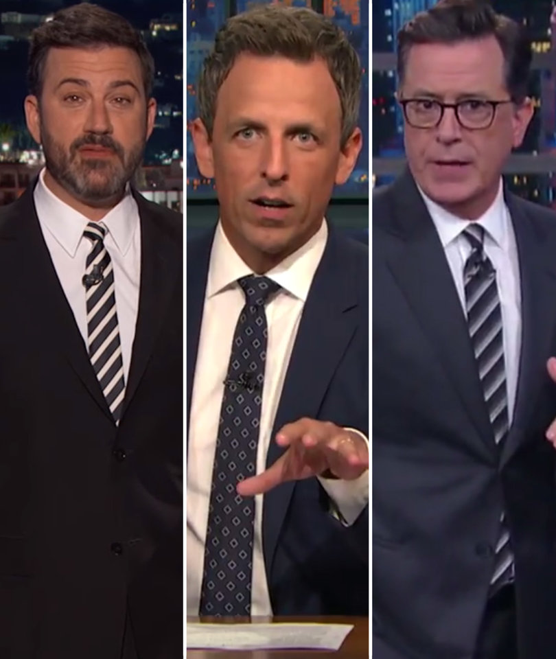 'Crazy,' 'Unhinged': Late-Night Pummels Trump Over Charlottesville Presser
