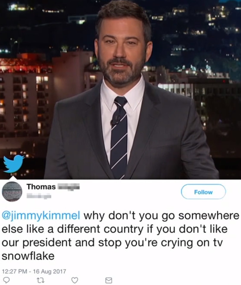 Jimmy Kimmel Reads Mean Tweets From Trump Supporters