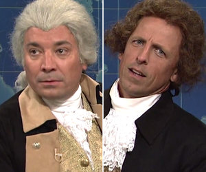 Fallon, Meyers Crash 'Weekend Update' as Presidents Washington and Jefferson