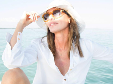 Carole Radziwill Flashes the Camera on Her 54th Birthday