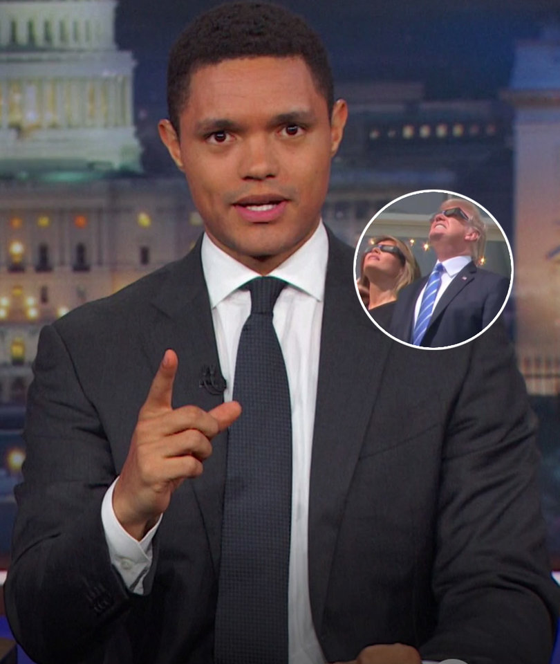 Trevor Noah Thinks Melania Blew Her 'Chance to Escape' During Solar Eclipse