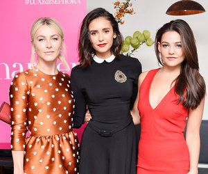 Nina Dobrev Celebrates Harper's BAZAAR Cover with Famous Friends