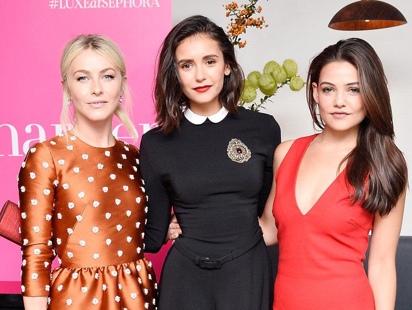Nina Dobrev Celebrates Harper's BAZAAR Cover with Famous Friends