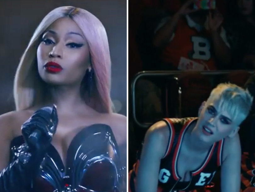 Nick Minaj Is Saving Grace of Perry's Wacky, Tacky 'Swish Swish' Music Video