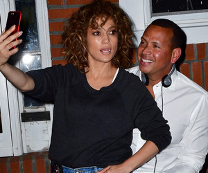 J.Lo and A-Rod Snap a Selfie on the 'Shades of Blue' Set