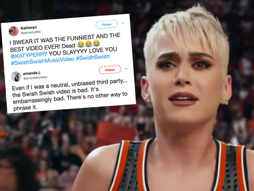 The Best Hot n Cold Reactions to Katy Perry's 'Swish Swish' Music Video