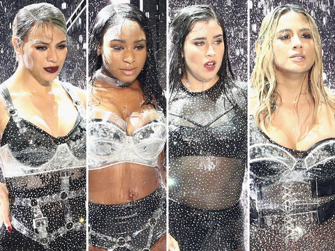 VMAs Shade! Fifth Harmony Boots 'Camila Cabello' Off Stage