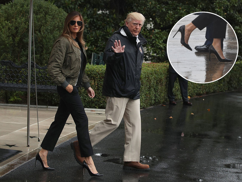 Melania Trump Gets Hell for Heels As She Heads to Flooded Texas In Stilettos