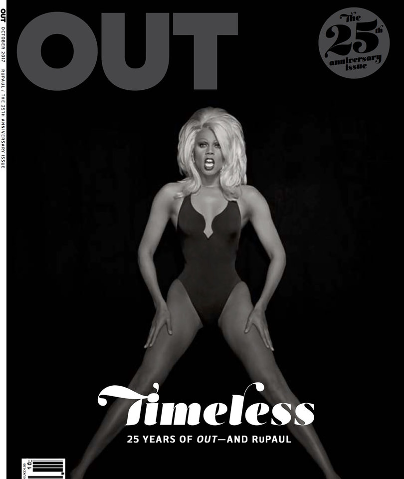 RuPaul Covers OUT Magazine's 25th Anniversary Issue Celebrating LGBTQ Milestones