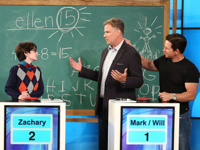 Ferrell, Wahlberg Prove They're Not Smarter Than a 5th Grader on 'Ellen'