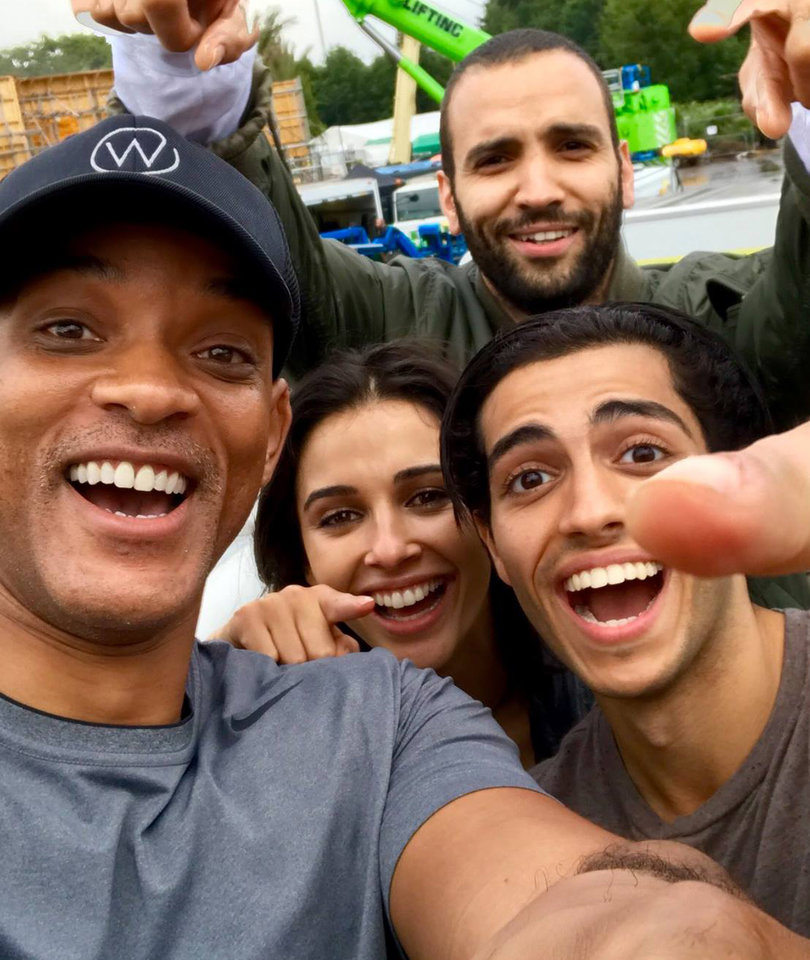 Will Smith Shares First Photo on Set of 'Aladdin'