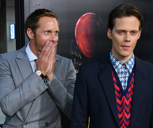 Alexander Skarsgard Supports Brother Bill at 'IT' Premiere