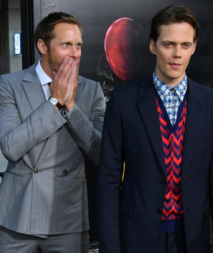 Alexander Skarsgard Supports Brother Bill at 'IT' Premiere